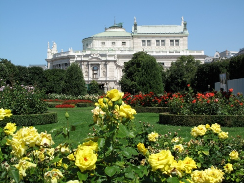 Gorgeous roses; grand architecture