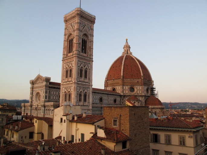 View from our Hotel Terrace. The Duomo