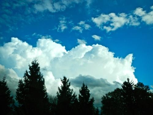 Altocumulus above Cumulusnimbus