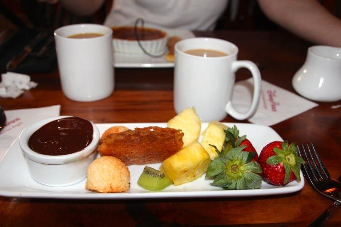 Chocolate Fondue Kona Cafe