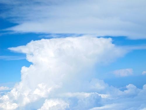 Cirrostratus above cumulonimbus
