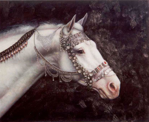 Bejeweled horse