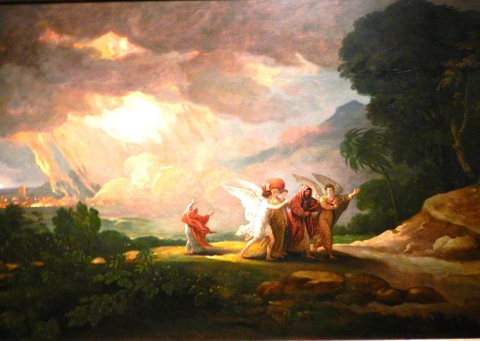Fleeing from Sodom Benjamin West