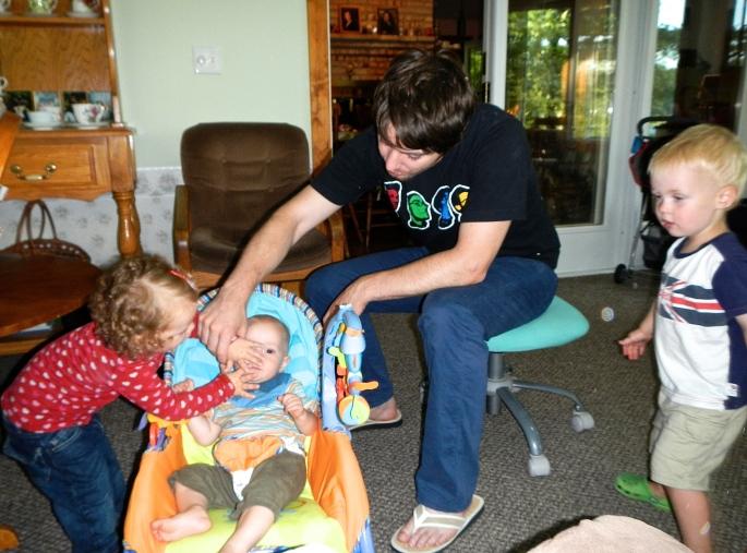 Kieren babysitting