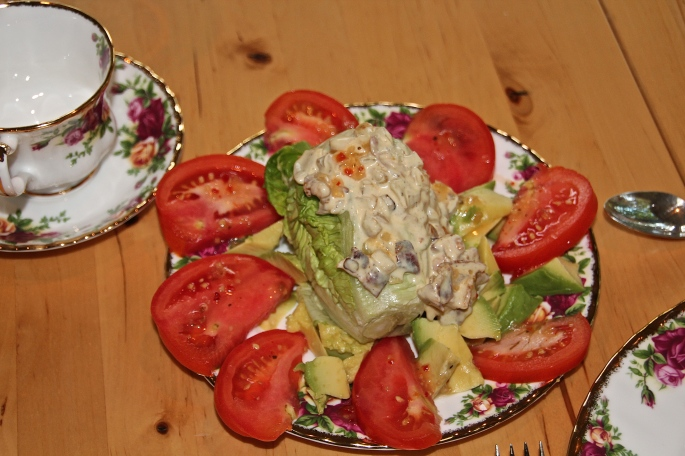 Lettuce, baby head, tomato, avocado