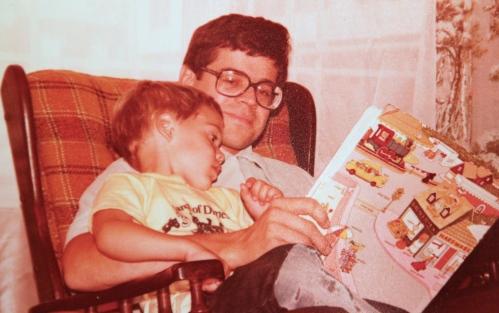 Alan reading to Michael