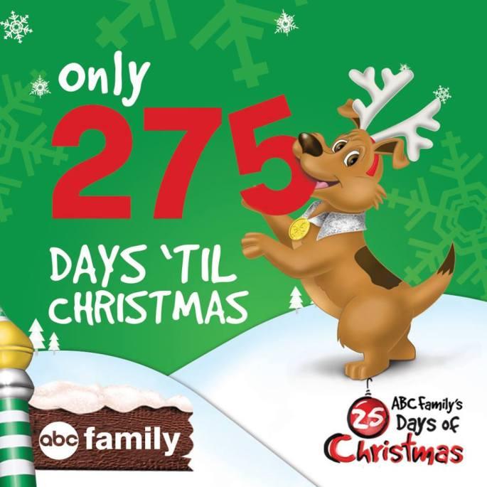 Days until Christmas