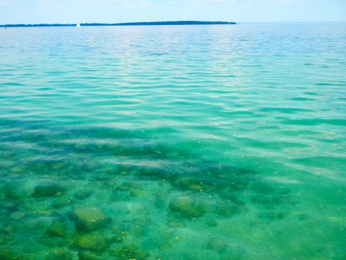 Clear, deep water on Grand Traverse Bay