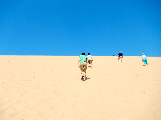 Climbing Sleeping Bear Dunes