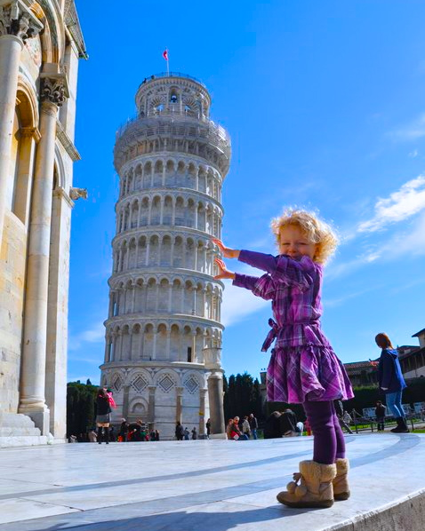 Eowyn at the Leaning Tower