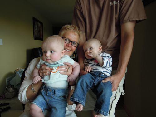 Lu with Grand Kids