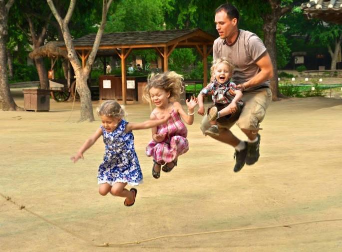 Mike jump roping