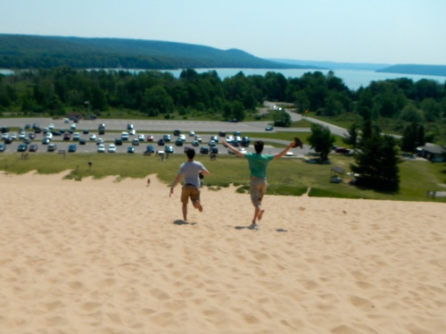 Running Down Sleeping Bear Dunes