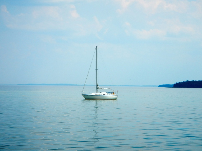 Sailboat on Grand Traverse Bay