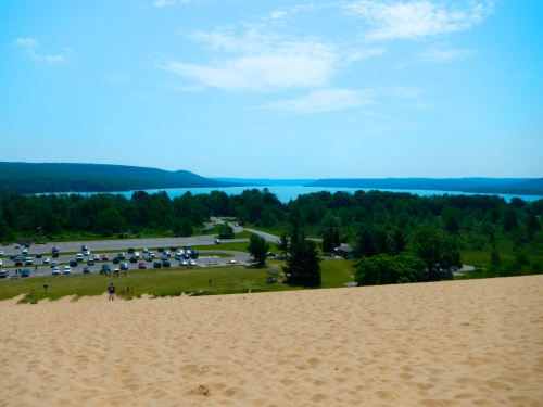 View from top of Sleeping Bear Dunes