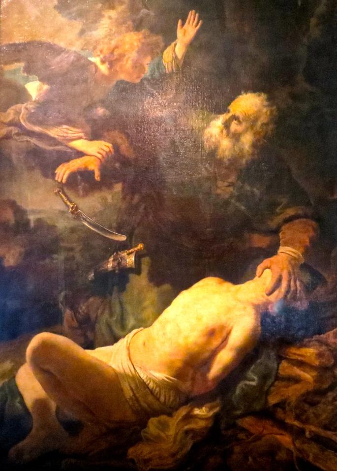 Abraham's Sacrifice. Rembrandt