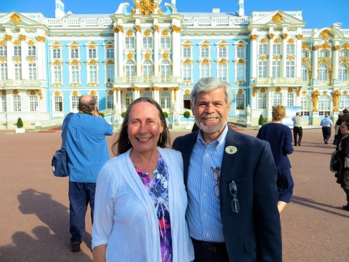 Alan and Kathi at Catherine Palace