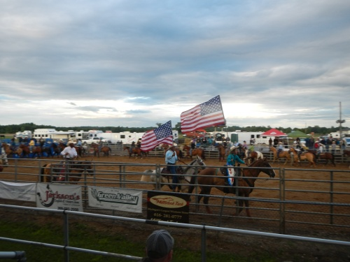 American Flag at Rodeo 2