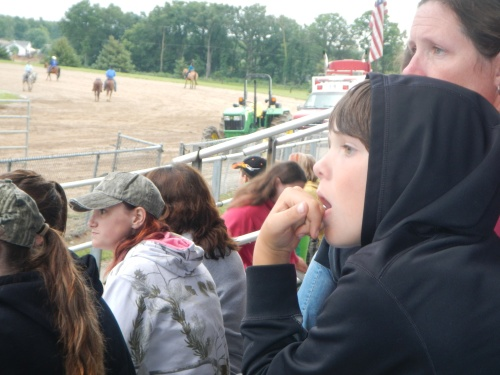 Boy Watching Rodeo