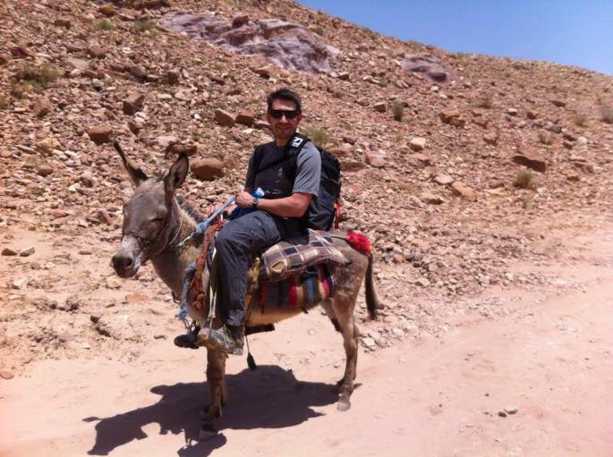 Carl on Donkey in Israel