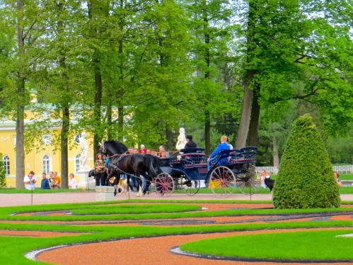 Carriage at the Catherine Palace