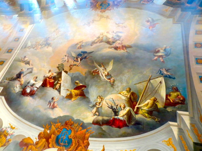 Ceiling Mural at Catherine Palace