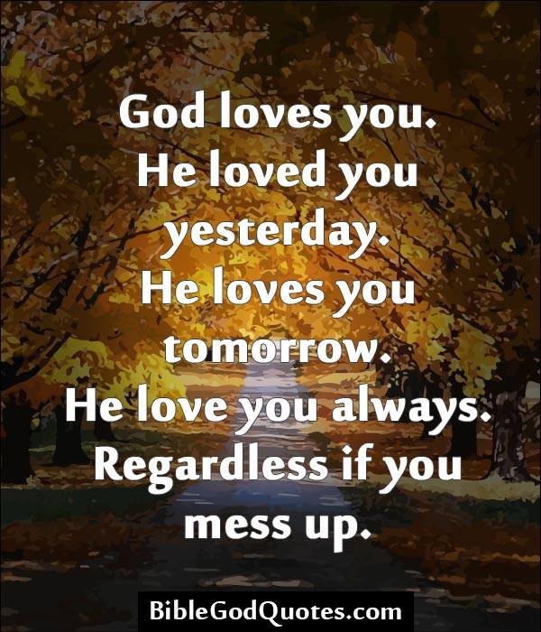 God always loves us