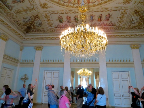 Hermitage Chandelier and Celing