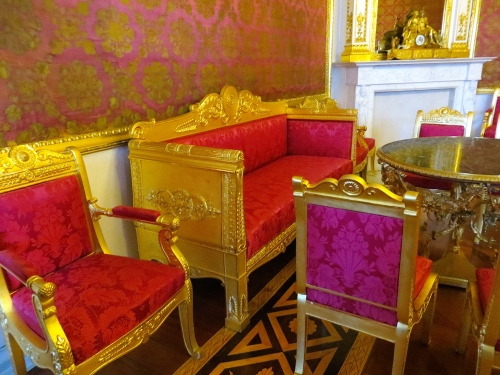Hermitage Gold and Satin furniture details