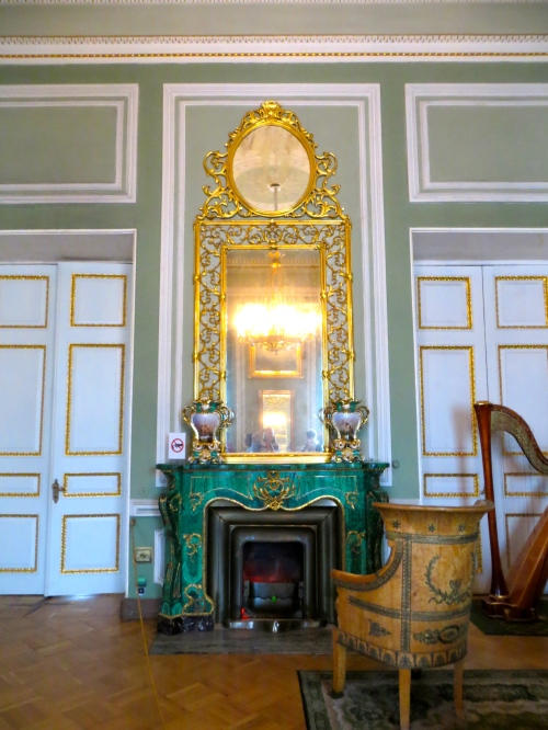 Hermitage Harp by Fireplace