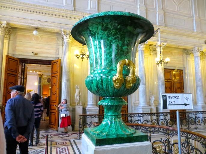 Hermitage Malachite vase