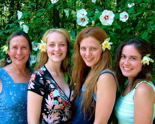 Kathy, Carlie, Grace, Kathy