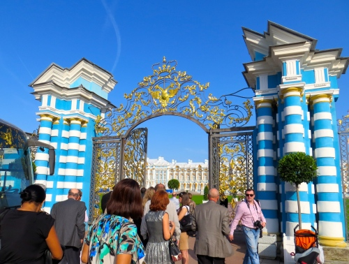 The gates of Catherine Palace