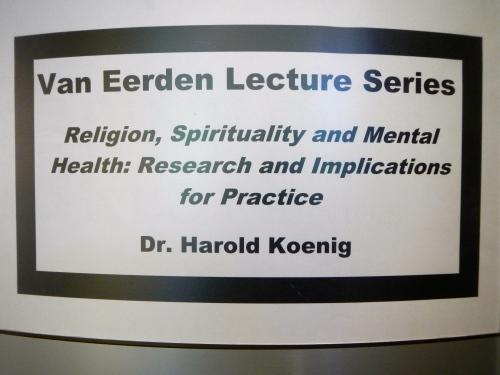 Van Eerden Lecture Series