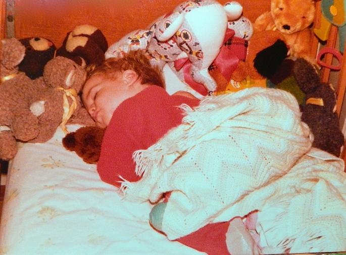 1981 Jon snuggled in bed