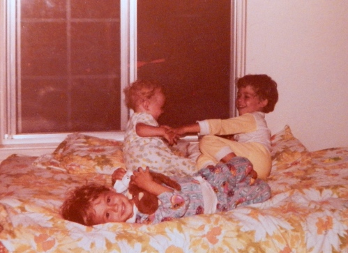 1981 Playing on bed