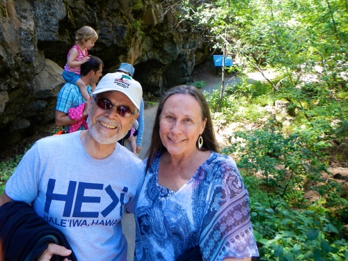 Alan and Kathi at Lava River Cave