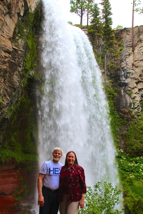 Alan and Kathi at Tumalo Falls