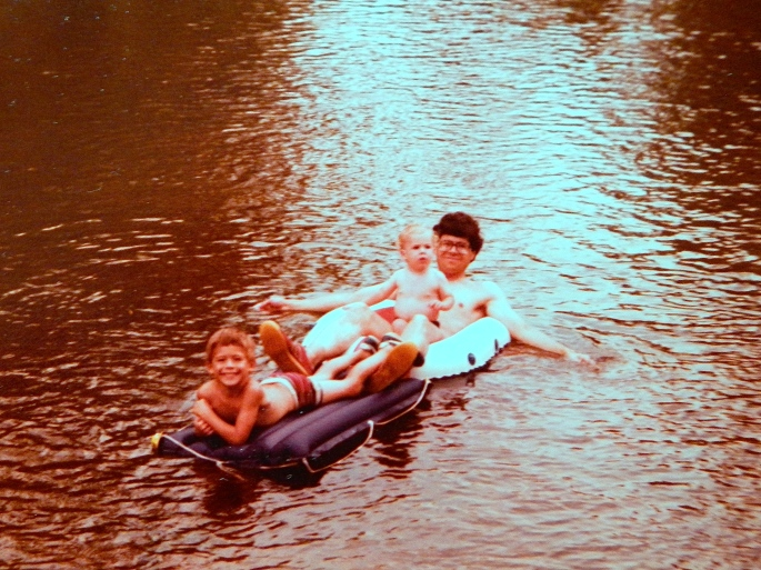 Floating on Huron River