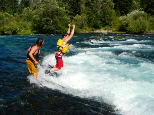 Jumping in the McKenzie River