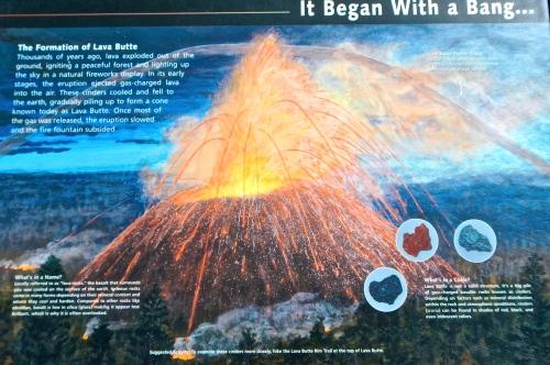Lava Butte Volcanic Explosion