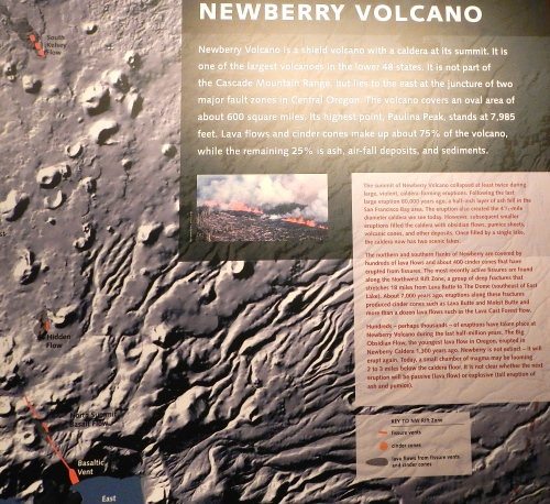 Map of Newberry Volcano