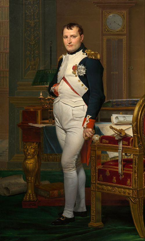 Napoleon. by Jacques-Louis_David_-_The_Emperor_Napoleon_in_His_Study_at_the_Tuileries_-_Google_Art_Project