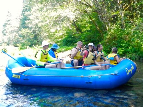 Raft on McKenzie River
