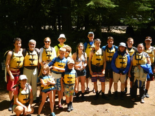 Rafting Family Photo