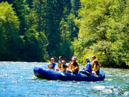 Rafting on the McKenzie River 2
