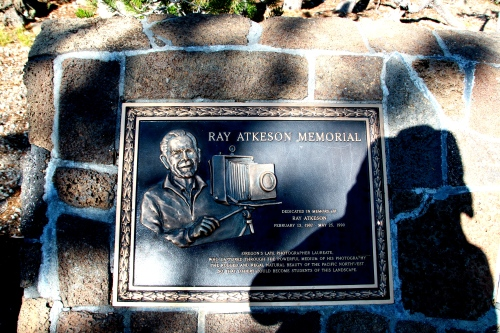 Ray Atkeson Memorial Marker