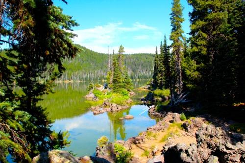 Spark's Lake. Islands