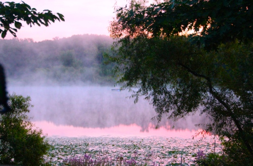 Steamy August Sunrise on Lake