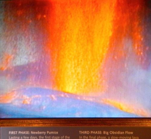 Volcano spewing lava